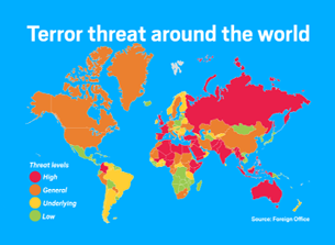 Terror threat around the world